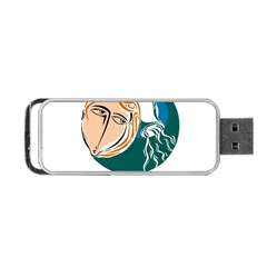 Aquarius Star Sign Portable Usb Flash (two Sides) by theimagezone
