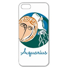 Aquarius Star Sign Apple Seamless Iphone 5 Case (clear) by theimagezone
