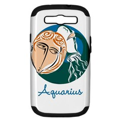 Aquarius Star Sign Samsung Galaxy S Iii Hardshell Case (pc+silicone) by theimagezone