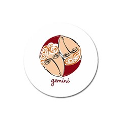 Gemini Star Sign Magnet 3  (round) by theimagezone