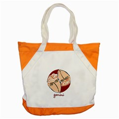 Gemini Star Sign Accent Tote Bag  by theimagezone