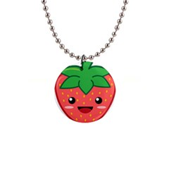 Kawaii Strawberry Button Necklaces by KawaiiKawaii