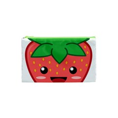 Kawaii Strawberry Cosmetic Bag (XS) by KawaiiKawaii