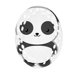 Kawaii Panda Ornament (oval Filigree)