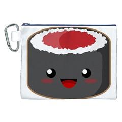 Kawaii Sushi Canvas Cosmetic Bag (xxl)  by KawaiiKawaii