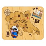 Pirate s - Double Sided Flano Blanket (Large)