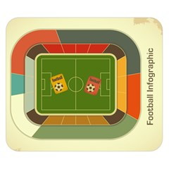 Football By Blanket    Double Sided Flano Blanket (small)   2l4xwo6qugiw   Www Artscow Com 50 x40 Blanket Back