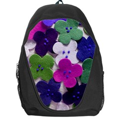 Cotton Flower Buttons  Backpack Bag by OCDesignss