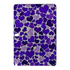 Sparkling Hearts Blue Samsung Galaxy Tab Pro 10 1 Hardshell Case by MoreColorsinLife