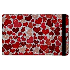 Sparkling Hearts, Red Apple iPad 2 Flip Case by MoreColorsinLife