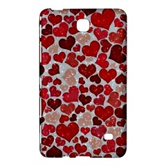 Sparkling Hearts, Red Samsung Galaxy Tab 4 (7 ) Hardshell Case  by MoreColorsinLife