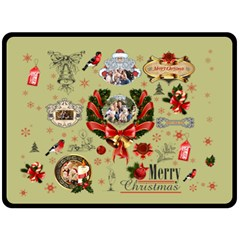 Xmas By Blanket    Double Sided Fleece Blanket (large)   Nv0t3bli216k   Www Artscow Com 80 x60 Blanket Back