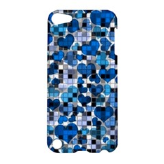 Hearts And Checks, Blue Apple Ipod Touch 5 Hardshell Case by MoreColorsinLife