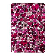 Hearts And Checks, Pink Samsung Galaxy Tab Pro 10.1 Hardshell Case