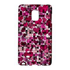 Hearts And Checks, Pink Galaxy Note Edge by MoreColorsinLife