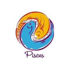 Pisces Star Sign Birthday Cake 3d Greeting Card (7x5)