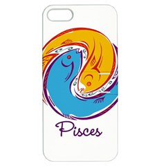 Pisces Star Sign Apple Iphone 5 Hardshell Case With Stand by theimagezone