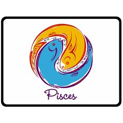 Pisces Star Sign Double Sided Fleece Blanket (large)  by theimagezone