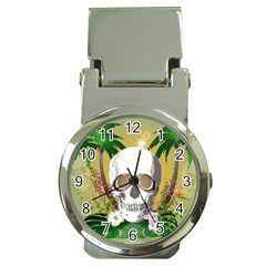 Funny Skull With Sunglasses And Palm Money Clip Watches by FantasyWorld7
