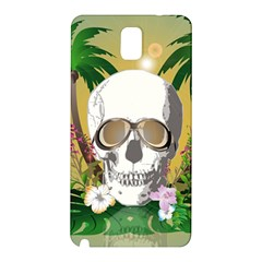 Funny Skull With Sunglasses And Palm Samsung Galaxy Note 3 N9005 Hardshell Back Case by FantasyWorld7