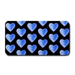 Heart Pattern Blue Medium Bar Mats by MoreColorsinLife