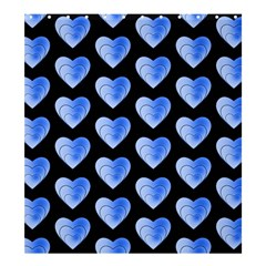 Heart Pattern Blue Shower Curtain 66  X 72  (large)  by MoreColorsinLife