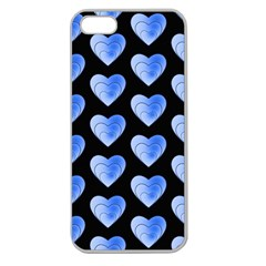 Heart Pattern Blue Apple Seamless iPhone 5 Case (Clear) by MoreColorsinLife