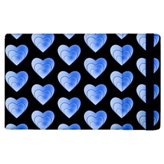 Heart Pattern Blue Apple iPad 2 Flip Case by MoreColorsinLife