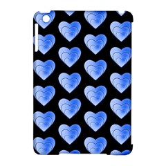 Heart Pattern Blue Apple Ipad Mini Hardshell Case (compatible With Smart Cover) by MoreColorsinLife