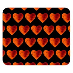 Heart Pattern Orange Double Sided Flano Blanket (small)  by MoreColorsinLife