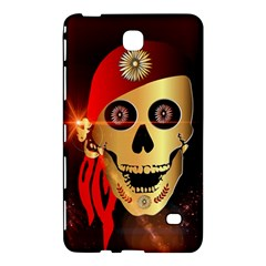 Funny, happy skull Samsung Galaxy Tab 4 (7 ) Hardshell Case  by FantasyWorld7