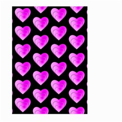 Heart Pattern Pink Large Garden Flag (two Sides)
