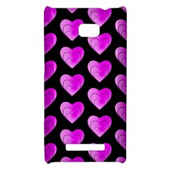 Heart Pattern Pink HTC 8X by MoreColorsinLife