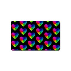 Heart Pattern Rainbow Magnet (name Card) by MoreColorsinLife