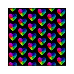 Heart Pattern Rainbow Acrylic Tangram Puzzle (6  X 6 ) by MoreColorsinLife