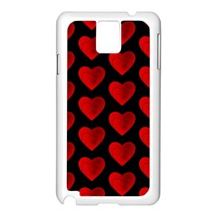 Heart Pattern Red Samsung Galaxy Note 3 N9005 Case (White)
