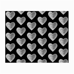 Heart Pattern Silver Small Glasses Cloth by MoreColorsinLife