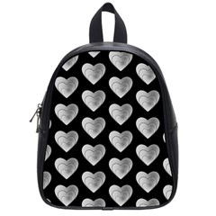 Heart Pattern Silver School Bags (small)  by MoreColorsinLife