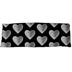 Heart Pattern Silver Body Pillow Cases (Dakimakura)  by MoreColorsinLife