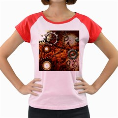Steampunk In Noble Design Women s Cap Sleeve T-Shirt by FantasyWorld7