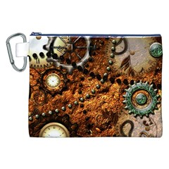 Steampunk In Noble Design Canvas Cosmetic Bag (XXL)  by FantasyWorld7