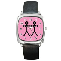 Love Women Icon Square Metal Watches by thisisnotme