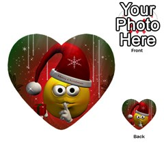 Funny Christmas Smiley Multi Purpose Cards (heart)  by FantasyWorld7