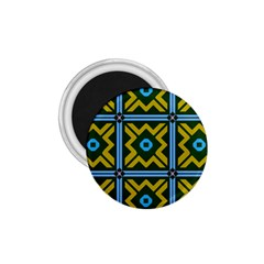 Rhombus in squares pattern 1.75  Magnet by LalyLauraFLM