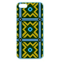 Rhombus In Squares Pattern Apple Seamless Iphone 5 Case (color) by LalyLauraFLM