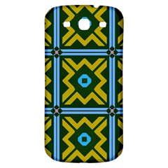 Rhombus In Squares Pattern Samsung Galaxy S3 S Iii Classic Hardshell Back Case by LalyLauraFLM