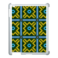 Rhombus In Squares Pattern Apple Ipad 3/4 Case (white) by LalyLauraFLM
