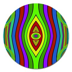 Colorful Symmetric Shapes Magnet 5  (round) by LalyLauraFLM