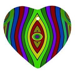 Colorful Symmetric Shapes Heart Ornament (two Sides) by LalyLauraFLM