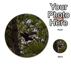 Bald Eagle Multi Purpose Cards (round)  by timelessartoncanvas